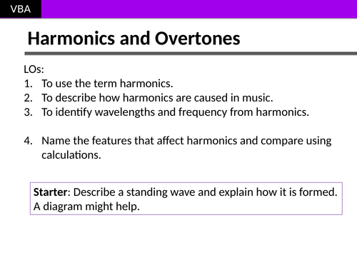 AS Physics Standing Waves Applied to Harmonics in Music