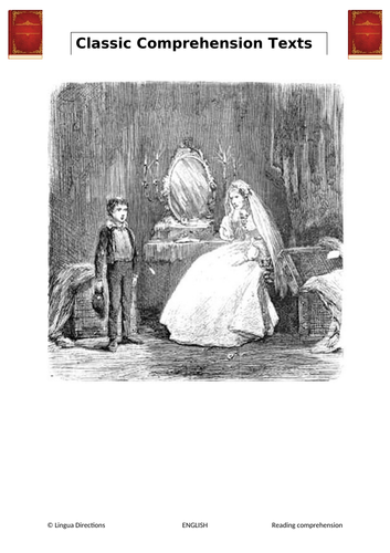 GREAT EXPECTATIONS. MISS HAVISHAM. READING COMPREHENSION. WITH ANSWERS.