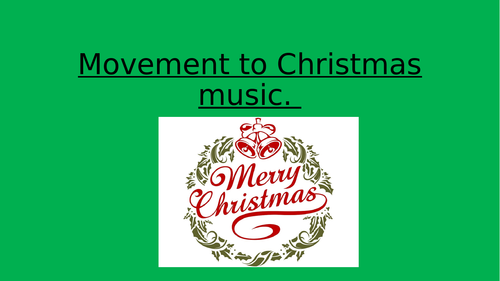 PMLD PE Dance / movement to Christmas Music
