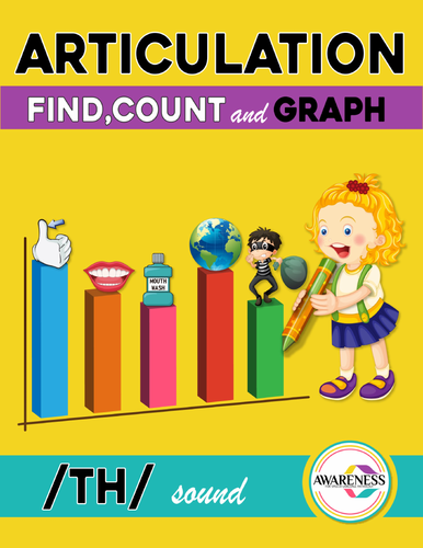 Articulation Activity; /Th/ sound Worksheets Find, Count and Graph