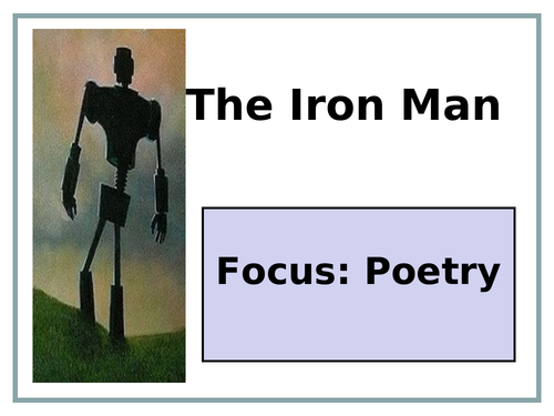 Iron Man Poetry Unit of Work + Resources