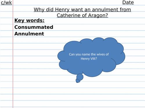 Why did Henry VIII want an annulment from Catherine of Aragon Edexcel GCSE Henry VIII