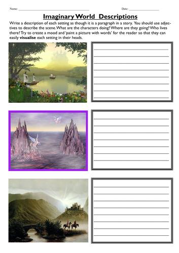 Imaginary World Descriptions - Describe the SETTINGS