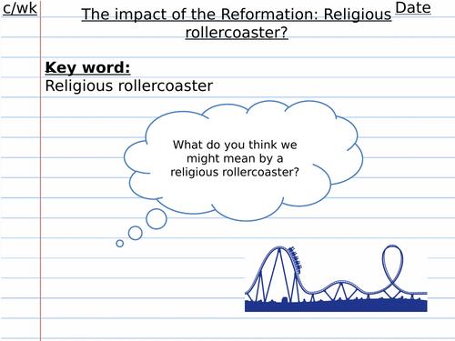 Impact of Reformation Henry VIII Edexcel