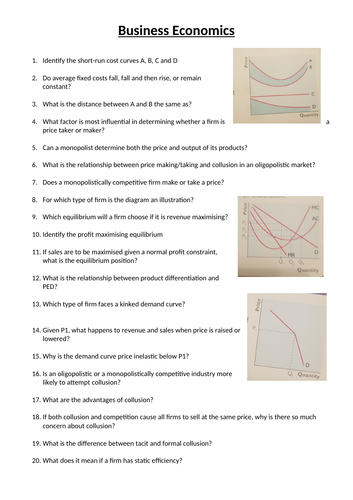 Business Economics 20 questions and answers