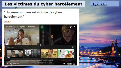 NEW AS FRENCH YEAR 12- LE CYBER HARCELEMENT