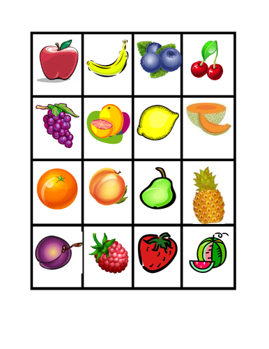 Fruits and Vegetables Slap Game