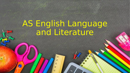 Introduction to Browning and AS Lang Lit
