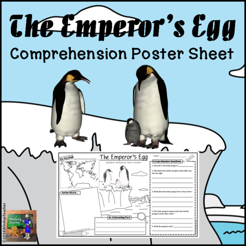 The Emperor's Egg Comprehension Activity Sheet *Legal Sized Paper*