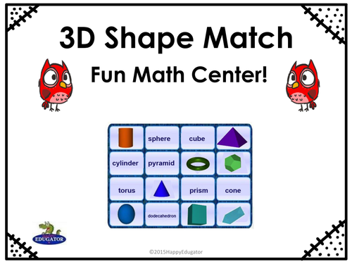 3D Shapes UK Version