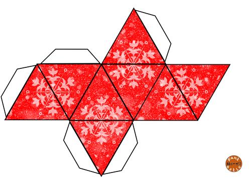 Christmas Octahedron nets