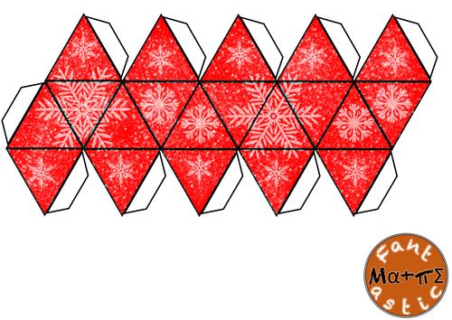 Christmas Icosahedron Nets