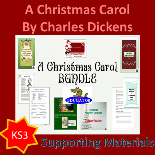 A Christmas Carol - Bundle of Activities UK Version
