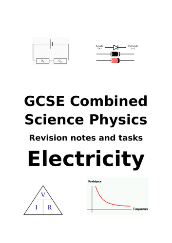 Electricity topic revision for GCSE Combined Science