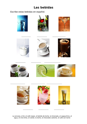 Las bebidas / Drinks