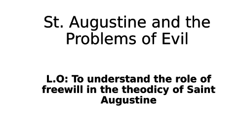 St. Augustine and the Problem of Evil