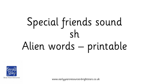 Special friends sound sh pack