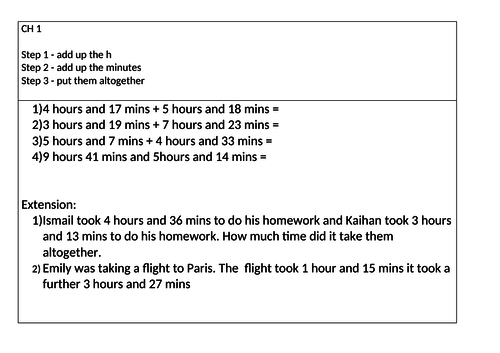 Maths - Adding time KS2