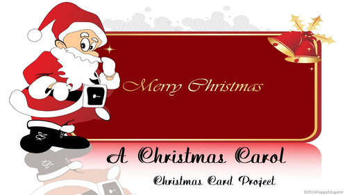 A Christmas Carol Christmas Card Project UK Version