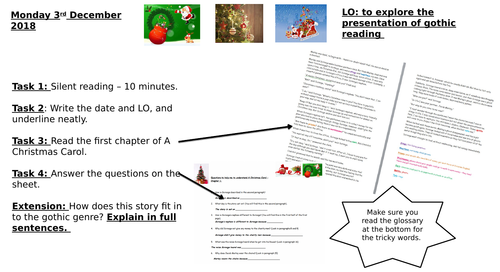Year 7 gothic A Christmas Carol easy read inference