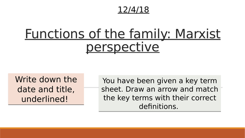Marxist Perspective on the family