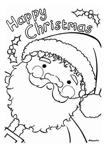 Christmas colouring activity pack, cards and posters