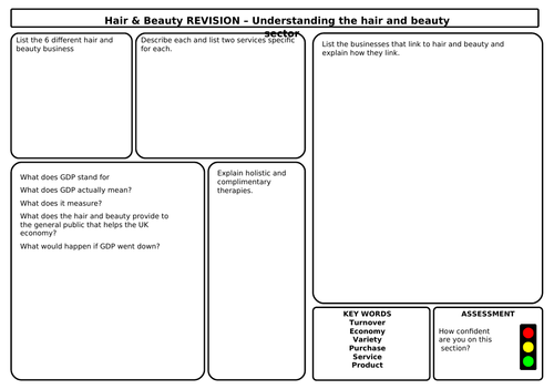 Hair and Beauty AM20530 Revision/Homework