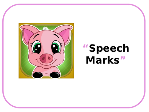 KS1 Speech Marks and Speech Bubbles PowerPoint & 4-page activity booklet!