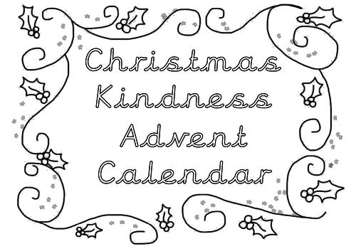 PSHE- Kindness advent calendar