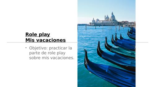 AQA GCSE 1-9  Spanish Speaking Role Play Theme 2 Holidays