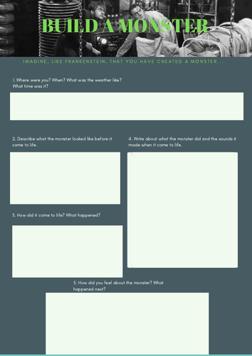 Frankenstein lesson plan (Edexcel)