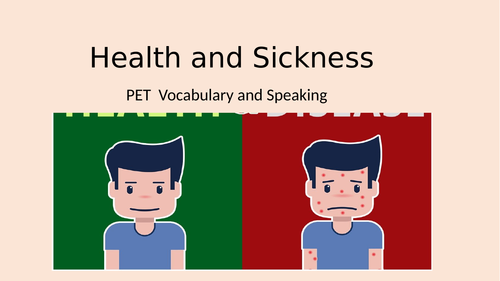 PET HEALTH and SICKNESS speaking and vocabulary B1
