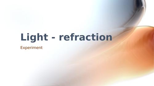 Refraction Experiment Light Optics KS2 Science
