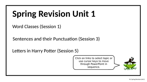 Year 6 - Harry Potter themed SATs revision plans - Unit 1 - Story openers & letters
