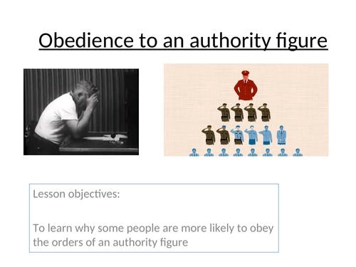 Edexcel 9-1: Psychology Topic 5 Social influence- Lesson 4