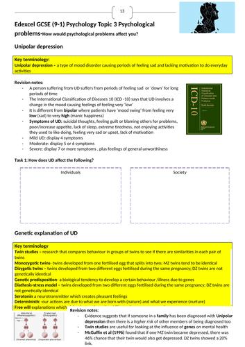 Edexcel 9-1 GCSE Psychology Topic 3 revision guide