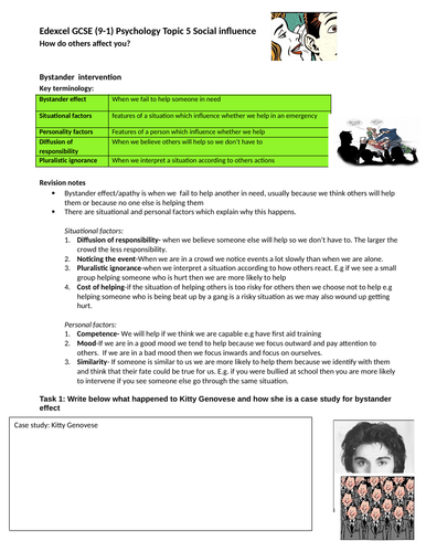 Edexcel 9-1 GCSE Psychology Topic 5 revision guide