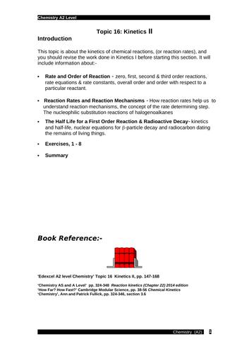 Edexcel chemistry Topic 16: Kinetics II