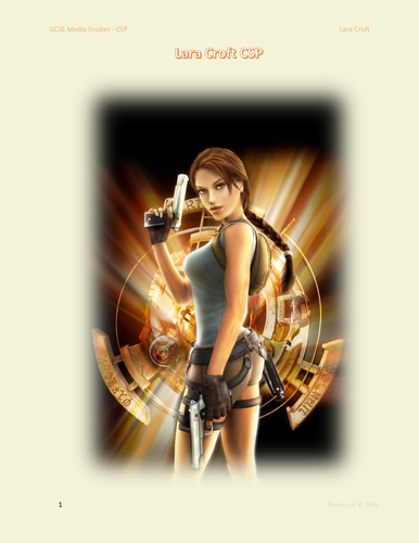 Lara Croft CSP Work sheet