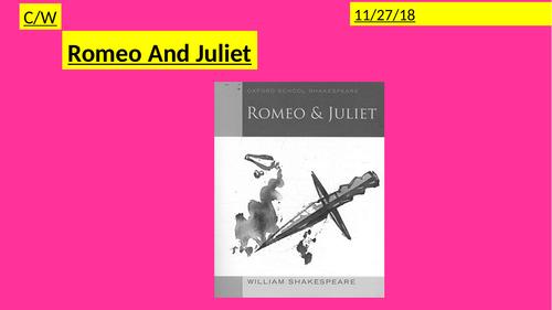 SOW- Romeo & Juliet