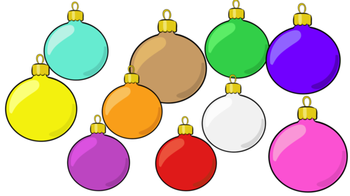 Christmas Baubles and Tree- Cliparts Creator Kit-Personal or Commercial Use- FREE ADD-ON