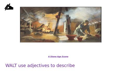 Stone Age descriptive writing lesson