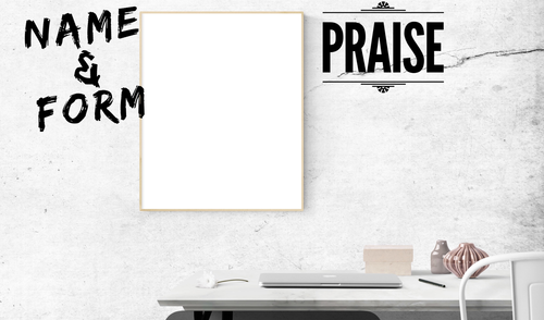 Name and Praise Postcard