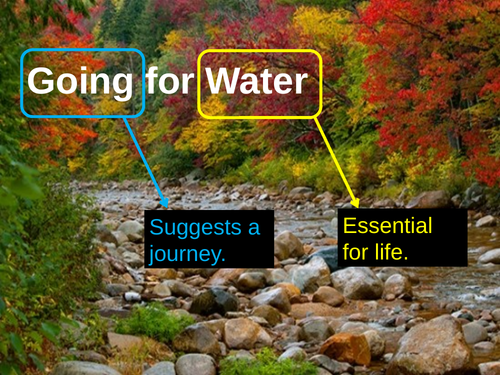 Going for Water by Robert Frost CCEA AS Level