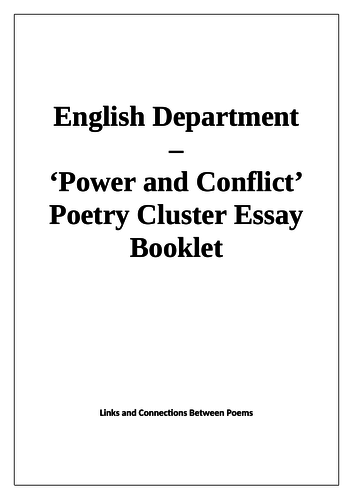 Power and Conflict Question Booklet and Model Answers