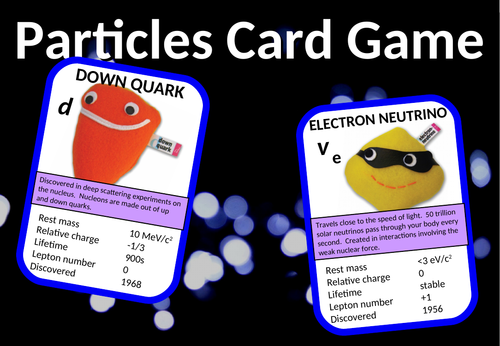 Fundamental Particles Card Game (quarks, leptons etc)