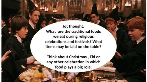Christmas dinner- Descriptive writing KS3/Low ability KS4- Harry Potter