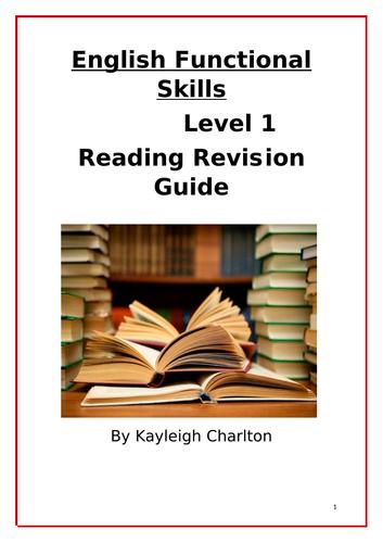 English Functional Skills Reading Revison Guide Level 1
