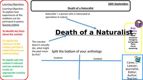 Death of a Naturalist - EDUQAS English literature GCSE