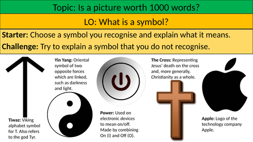 What is a symbol? - Symbolism Lesson Ethics/RE